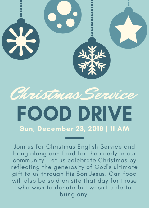 Are Any Churches In The Richmond, Va Area Having Services On Christmas Day, 2020? Christmas Service Food Drive – Grace Chinese Baptist Church of